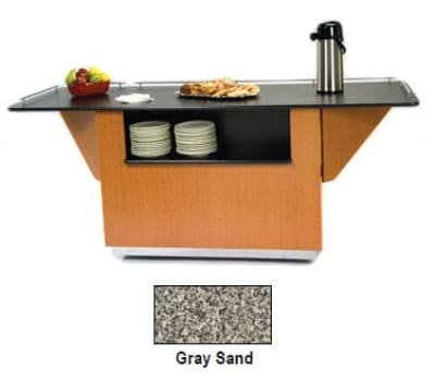 """Lakeside 6855 GRSAN 99"""" Breakout Dining Station w/ 2-Compartment, Gray Sand"""
