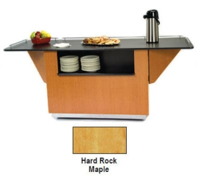 """Lakeside 6855 HRMAP 99"""" Breakout Dining Station w/ 2 Compartment, Hard Rock Maple"""