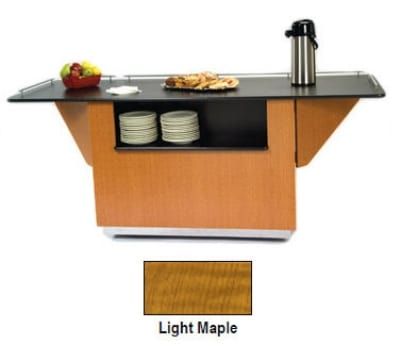 "Lakeside 6855 LMAP 99"" Breakout Dining Station w/ 2-Compartment, Light Maple"