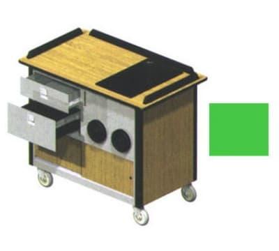 "Lakeside 690-10 GRN Food Cart w/ Drawers, 44.5""L x 24.5""W x 37.75""H, Green"