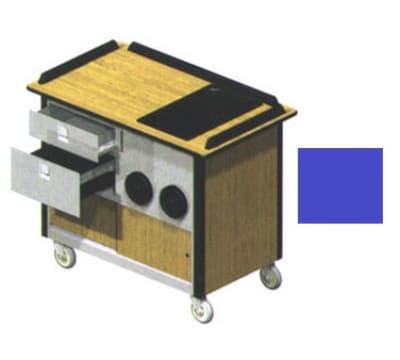 "Lakeside 690-10 RBLU Food Cart w/ Drawers, 44.5""L x 24.5""W x 37.75""H, Royal Blue"