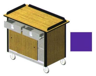 "Lakeside 690-20 PUR Food Cart w/ Drawers, 44.5""L x 24.5""W x 37.75""H, Purple"