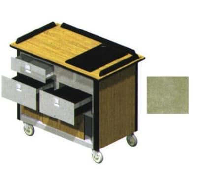 "Lakeside 690-30 BEGSU Food Cart w/ Drawers, 44.5""L x 24.5""W x 37.75""H, Beige"