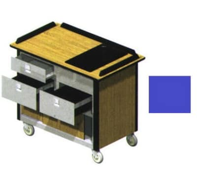 "Lakeside 690-30 RBLU Food Cart w/ Drawers, 44.5""L x 24.5""W x 37.75""H, Royal Blue"