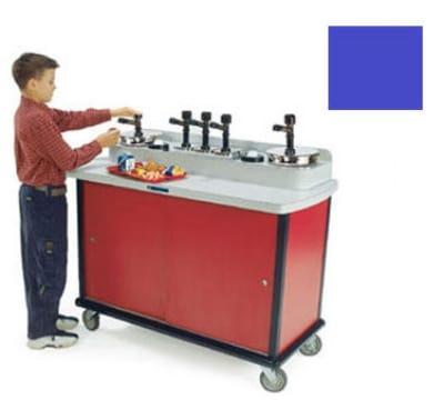 Lakeside 706-30 RBLU Pump Style Condiment Cart w/ (8) Pumps, Royal Blue