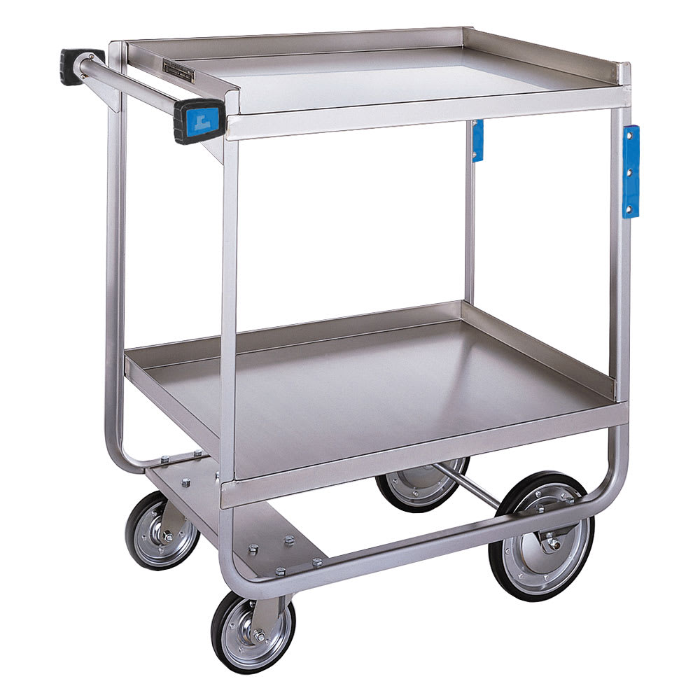 Lakeside 710 2-Level Stainless Utility Cart w/ 700-lb Capacity, Raised Ledges