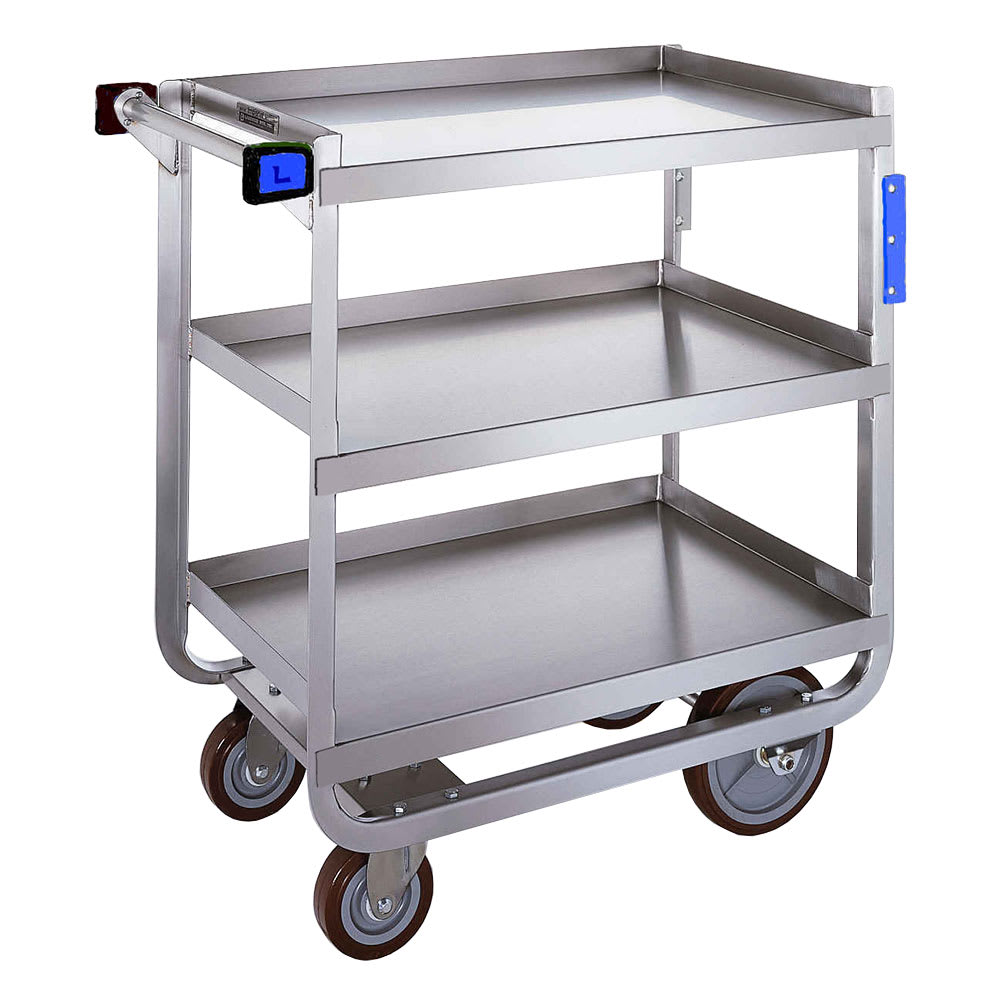 Lakeside 722 3 Level Stainless Utility Cart w/ 700 lb Capacity, Raised Ledges