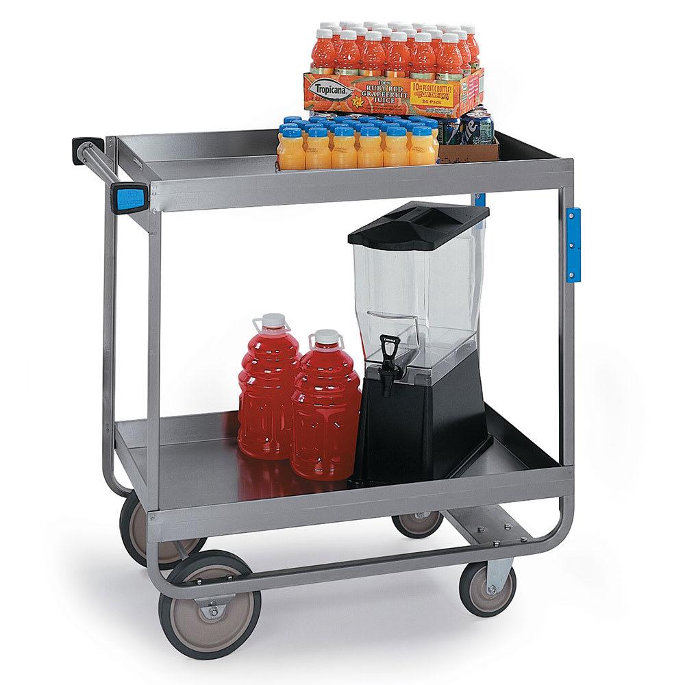 Lakeside 727 2 Level Stainless Utility Cart w/ 700 lb Capacity, Raised Ledges