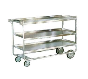 Lakeside 759 3 Level Stainless Utility Cart w/ 700 lb Capacity, Raised Ledges
