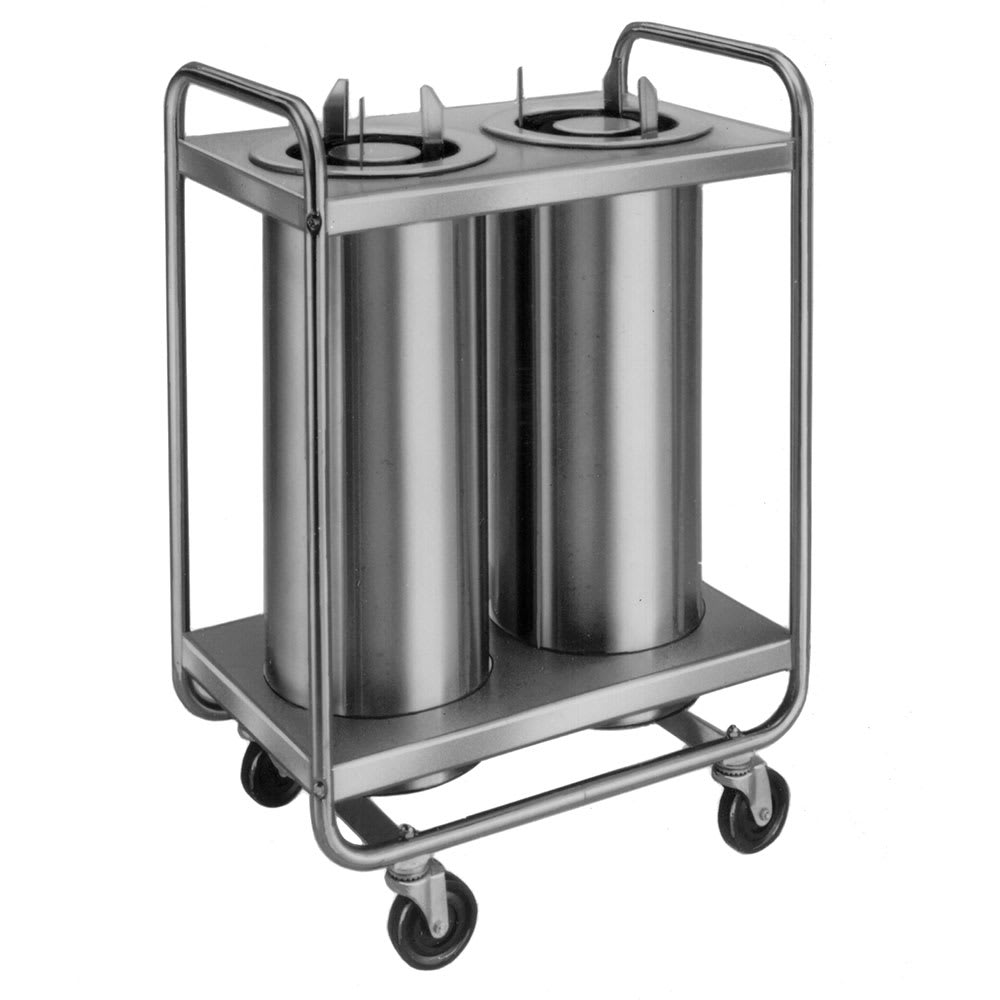 "Lakeside 772 Dish Dispenser w/ 2 Self-Leveling Tubes, 7.5"", Stainless"
