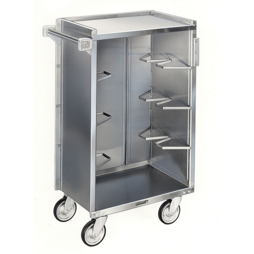 "Lakeside 790 27.75""L Metal Bus Cart w/ (4) Levels, Shelves, Stainless"