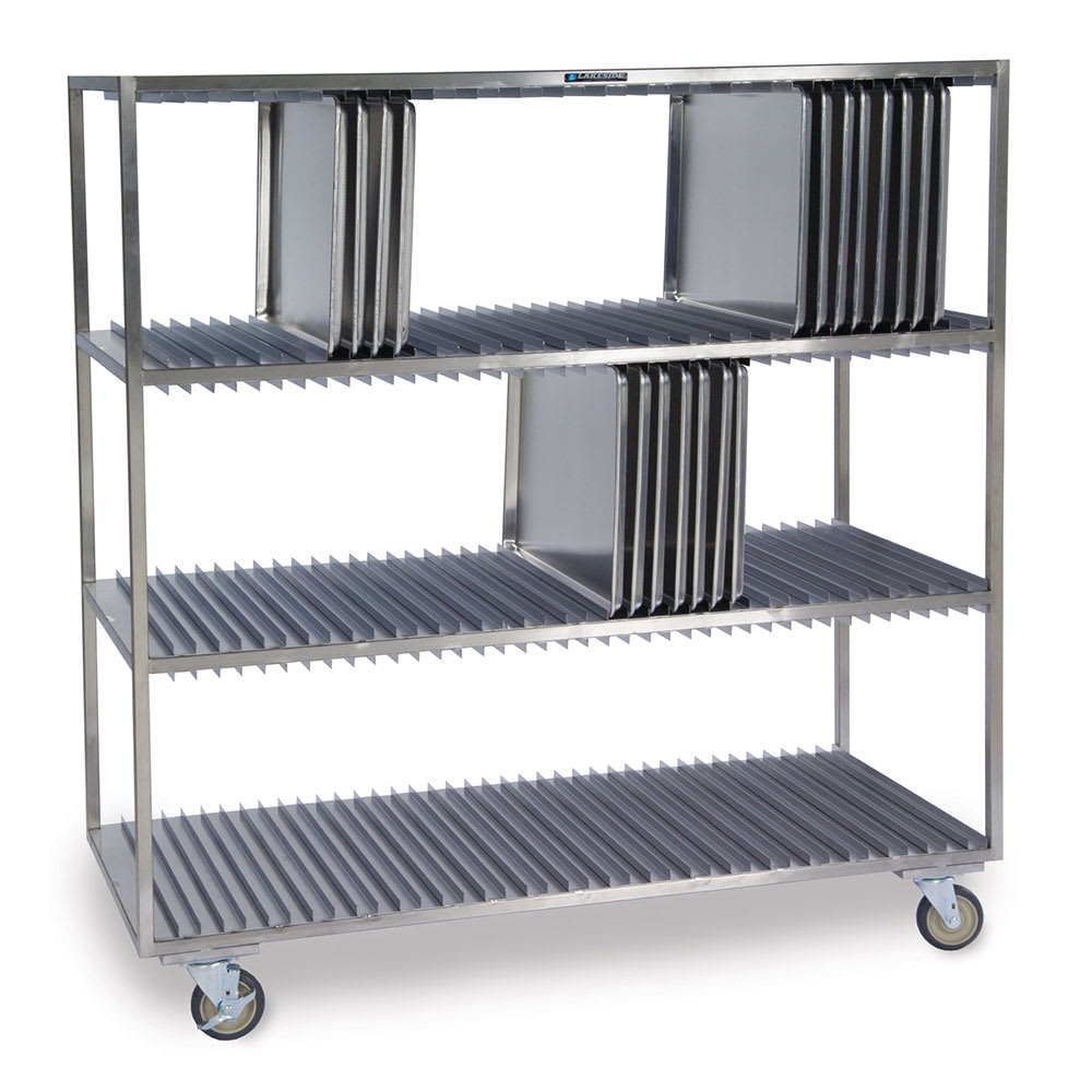 "Lakeside 848 3-Shelf Sheet Pan Drying Rack for (120) 18 x 26"" Trays"