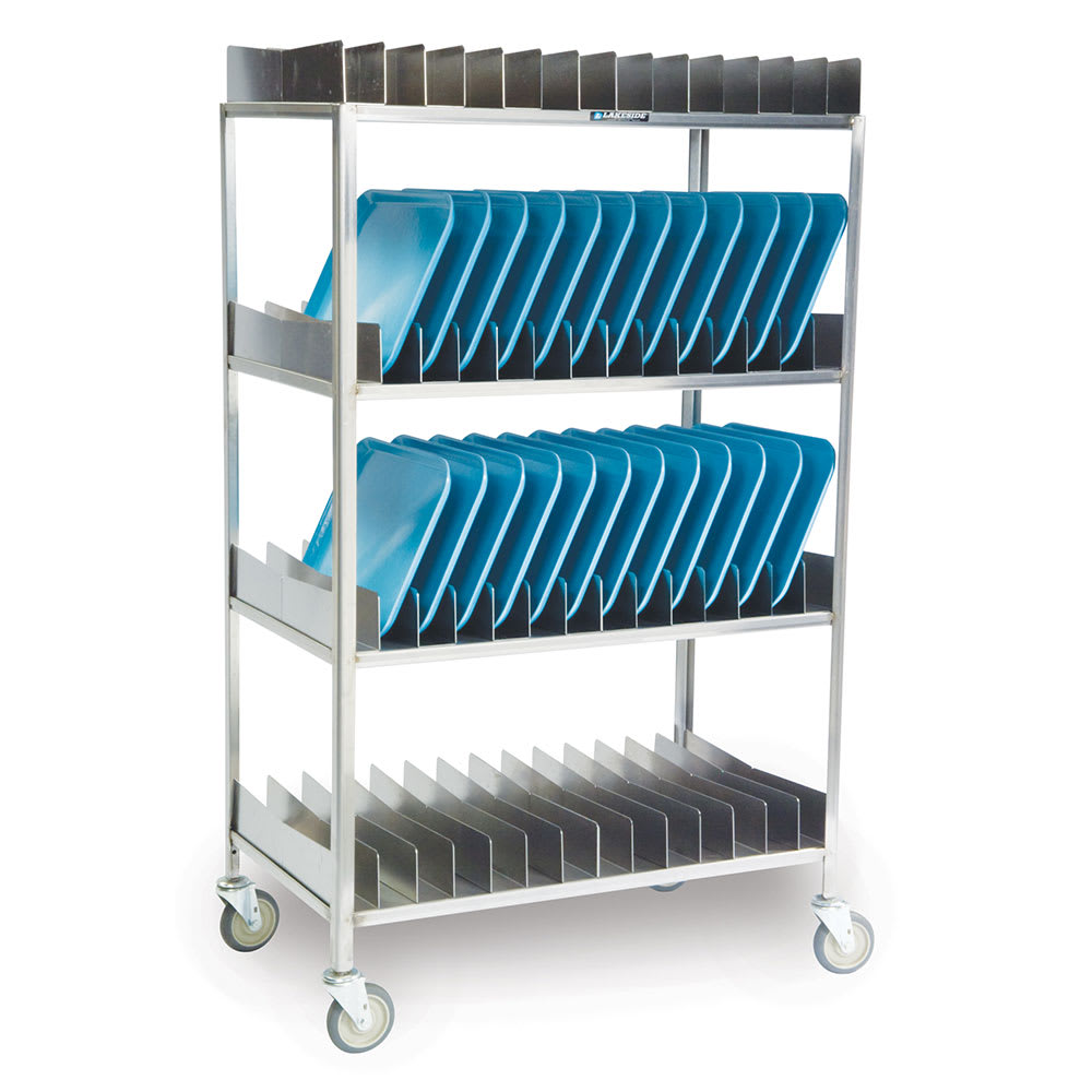 """Lakeside 868 4-Shelf Tray Drying Rack w/ Removable Sections, (56) 14 x 18"""""""