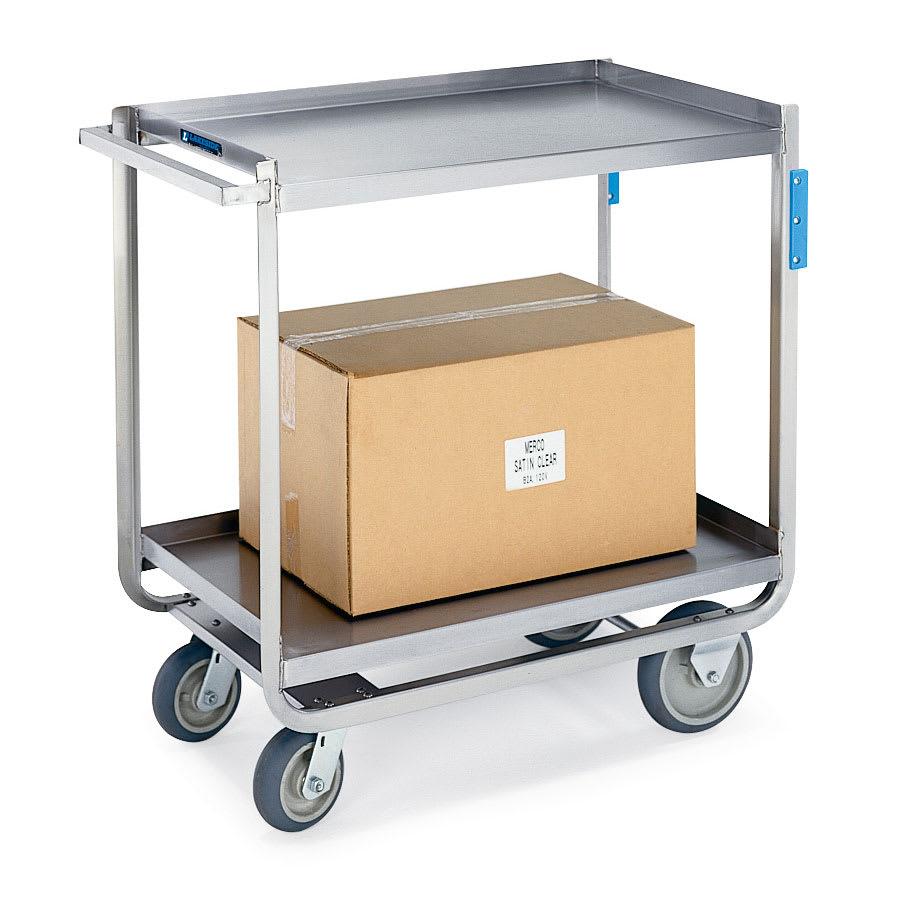 Lakeside 8820 2 Level Stainless Utility Cart w/ 1500 lb Capacity, Raised Ledges