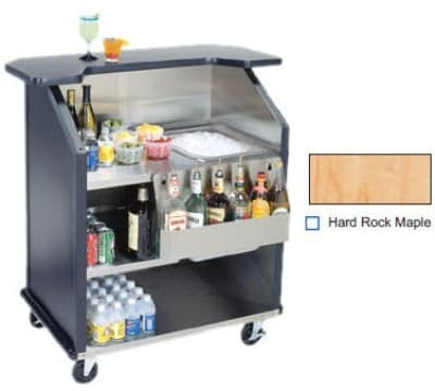 "Lakeside 884 HRMAP 43"" Portable Bar w/ 40-lb Ice Bin & Speed Rail, Hard Rock Maple"