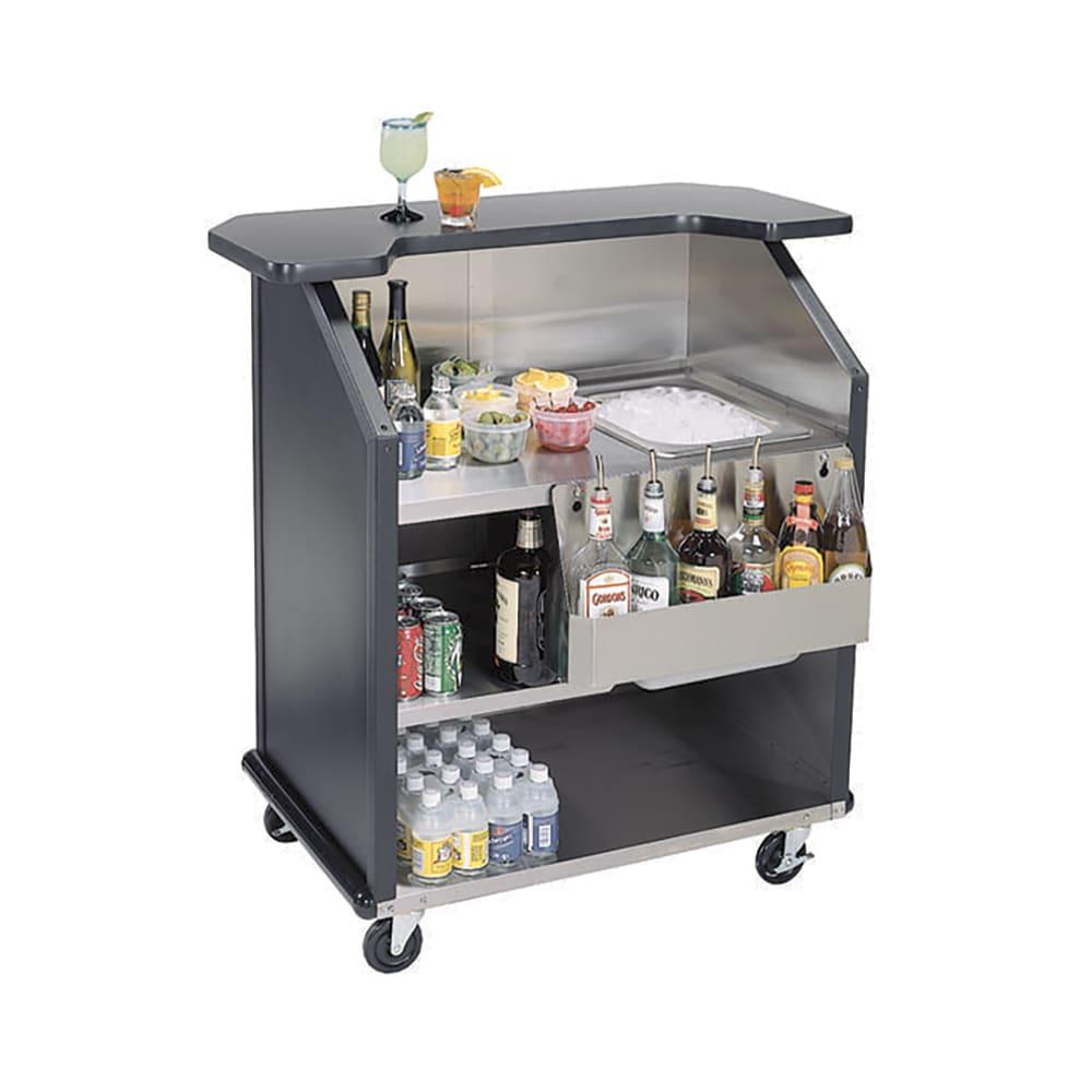 "Lakeside 884 RMAP 43"" Portable Bar w/ 40-lb Ice Bin & Drain, Speed Rail, Red Maple"