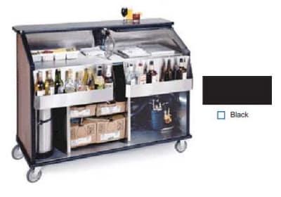 "Lakeside 889 BLK 63.5"" Portable Bar w/ 70-lb Ice Bin, 7-Bottle Speed Rail, Black"