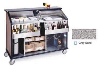 "Lakeside 889 GRSAN 63.5"" Portable Bar w/ 70-lb Ice Bin, Speed Rail, Gray Sand"