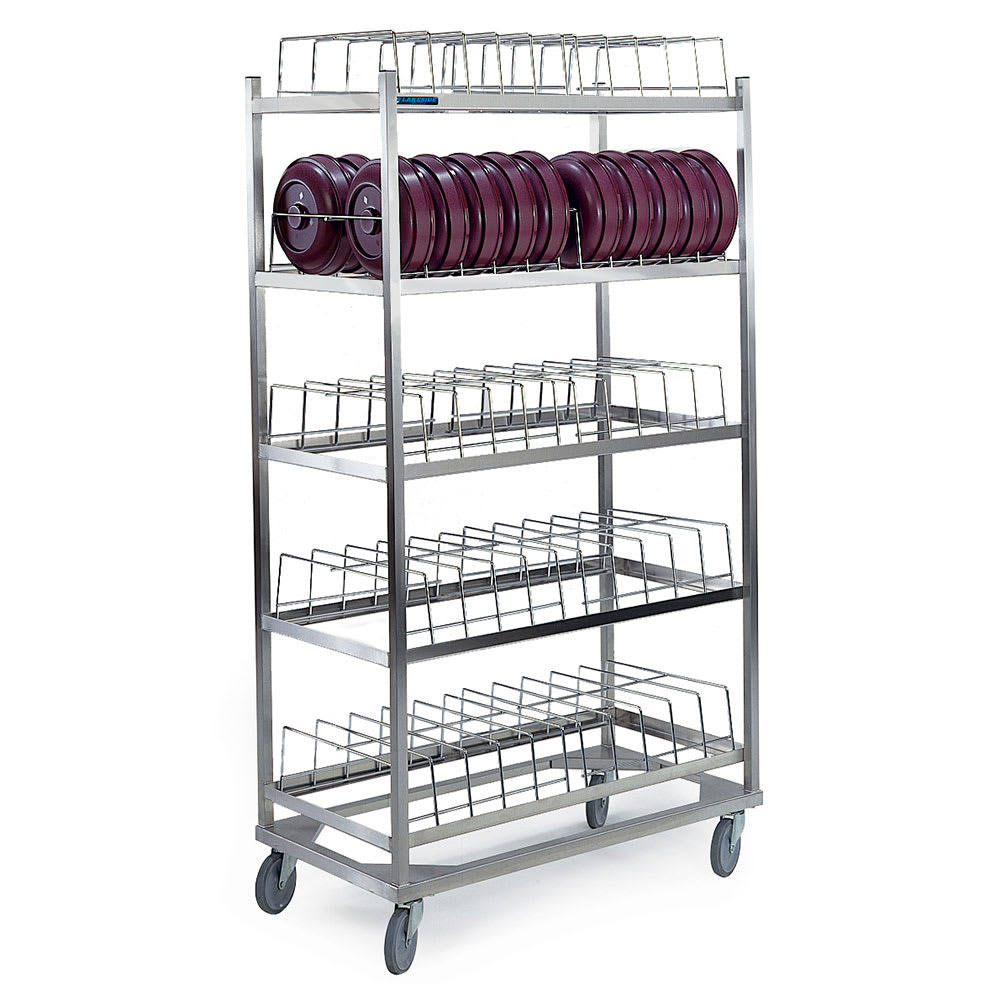 """Lakeside 898 5-Shelf Dome Drying Rack w/ (100) 9"""" Dome Capacity, Stainless"""