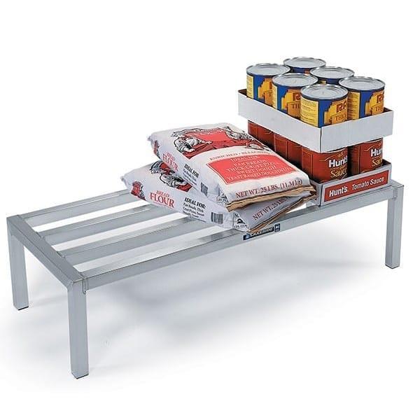 "Lakeside 9081 48"" Stationary Dunnage Rack w/ 2000 lb Capacity, Aluminum"