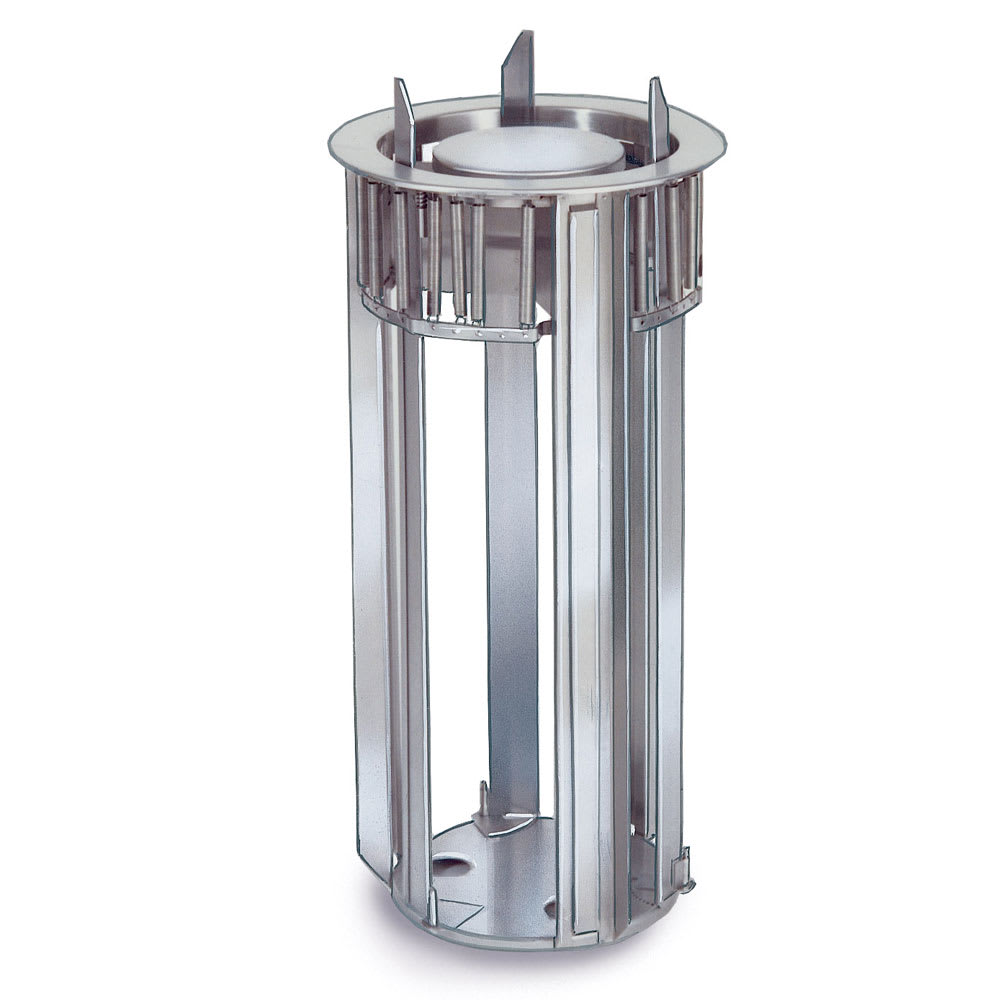 "Lakeside 922 9.75"" Diameter Drop-In Dish Dispenser w/ Self-Leveling Tube, Stainless"