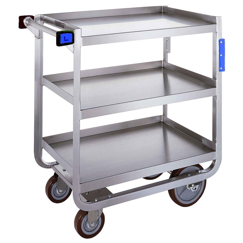 Lakeside 939 3 Level Stainless Utility Cart w/ 1000 lb Capacity, Raised Ledges