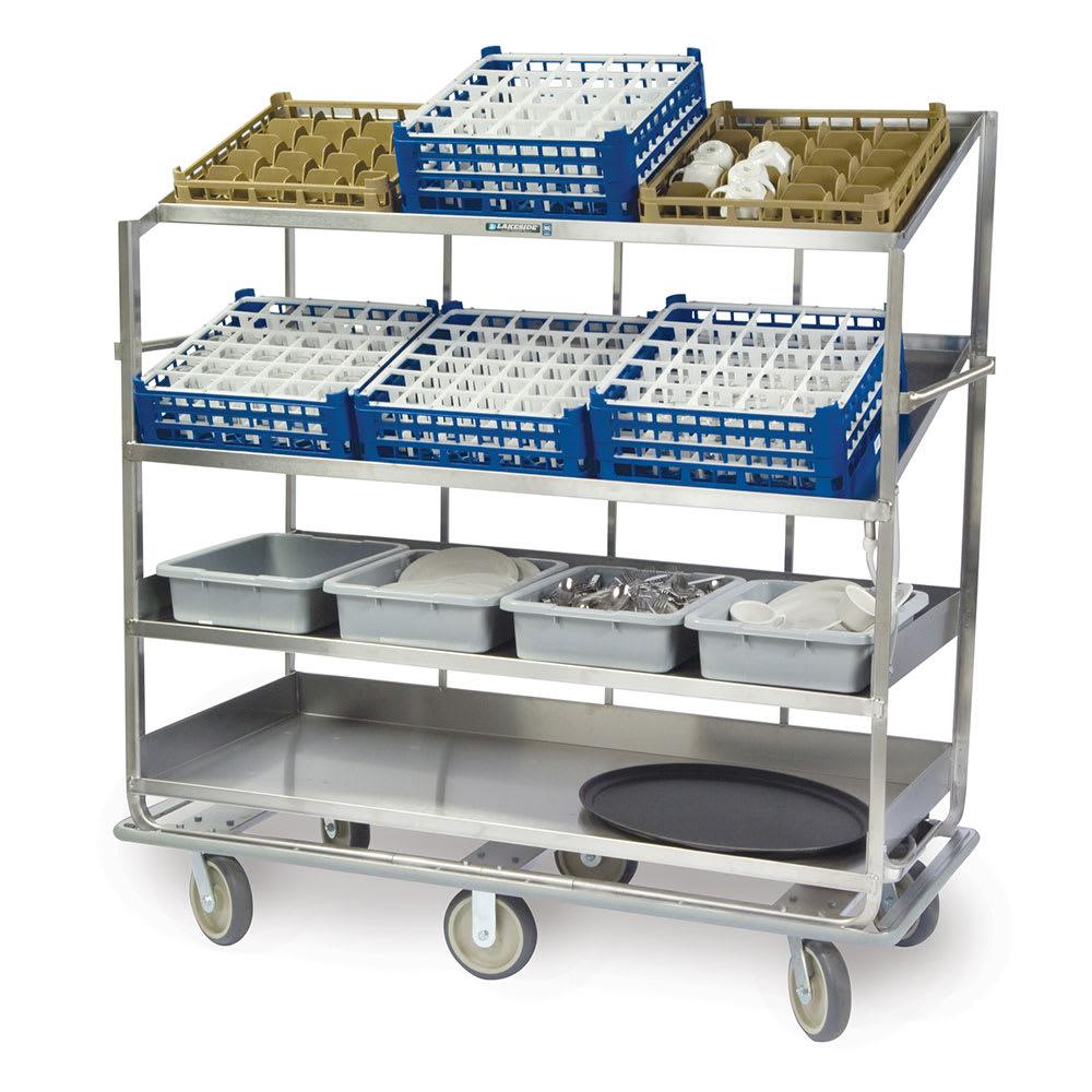 Lakeside B588 Soiled Dish Cart w/ 4-Shelves