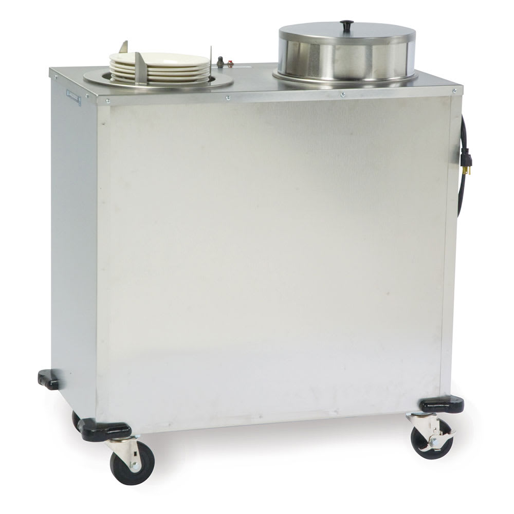 """Lakeside E927 Heated Plate Dispenser w/ 2 Tubes & Cover, Up To 9.75"""" Dish"""