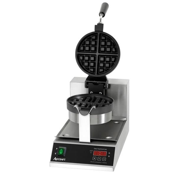 "Adcraft BWM-7/R Belgian Waffle Maker w/ 7"" Non-Stick Round Grids, 120v"
