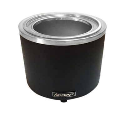 Adcraft FW-1200WR/B 11-qt Countertop Food Cooker/Warmer w/ Base Only, Black