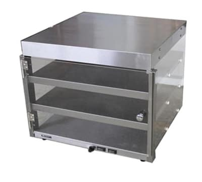"Adcraft PW-20 Countertop Pizza Merchandiser w/ 3-Pizza Capacity, 23x23x20.5"", Stainless"