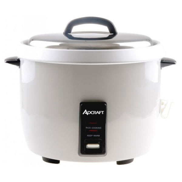 Adcraft RC-E30 Rice Cooker w/ 30-Cup Capacity & Oversized Fork, Measuring Cup