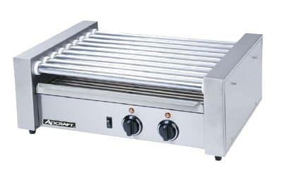 Adcraft RG-09 24 Hot Dog Roller Grill - Flat Top, 120v