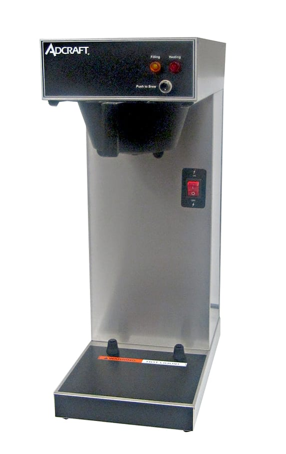 Adcraft UB-289 Coffee Brewer for Airpots, Single, Stainless, 120v