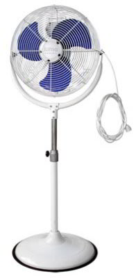 Luma Comfort MF18W Outdoor Misting 18-in Fan, Adjustable Height & 3-Speeds