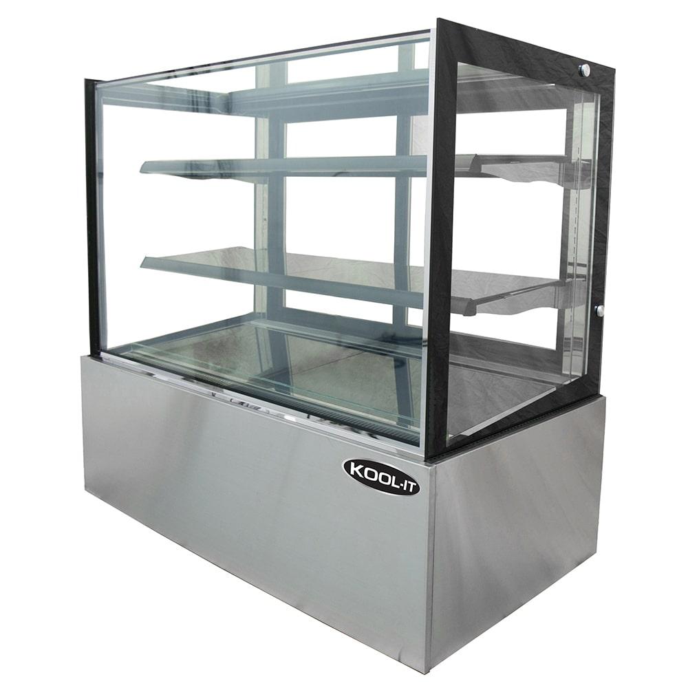 "Kool-It KBF-48 47"" Full Service Bakery Case w/ Straight Glass - (3) Levels, 110v"