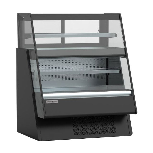"Kool-It KGL-OU-48 48"" Dual-Service Bakery Case w/ Straight Glass, Black, 115v"