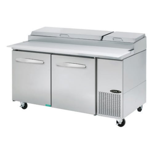 "Kool-It KPT-67-2 67"" Pizza Prep Table w/ Refrigerated Base, 115v"