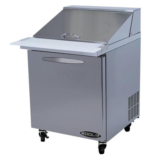 "Kool-It KSTM-27-1 27"" Sandwich/Salad Prep Table w/ Refrigerated Base, 115v"