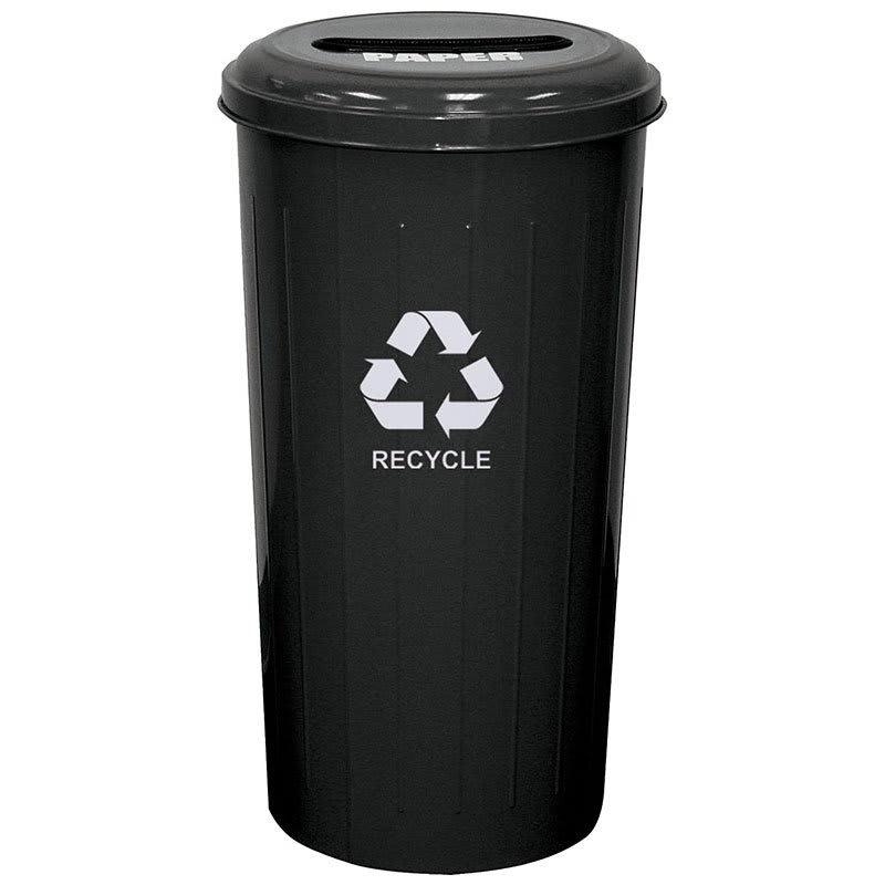Witt 10/1STBK 20 gal Paper Recycle Bin - Indoor, Decorative