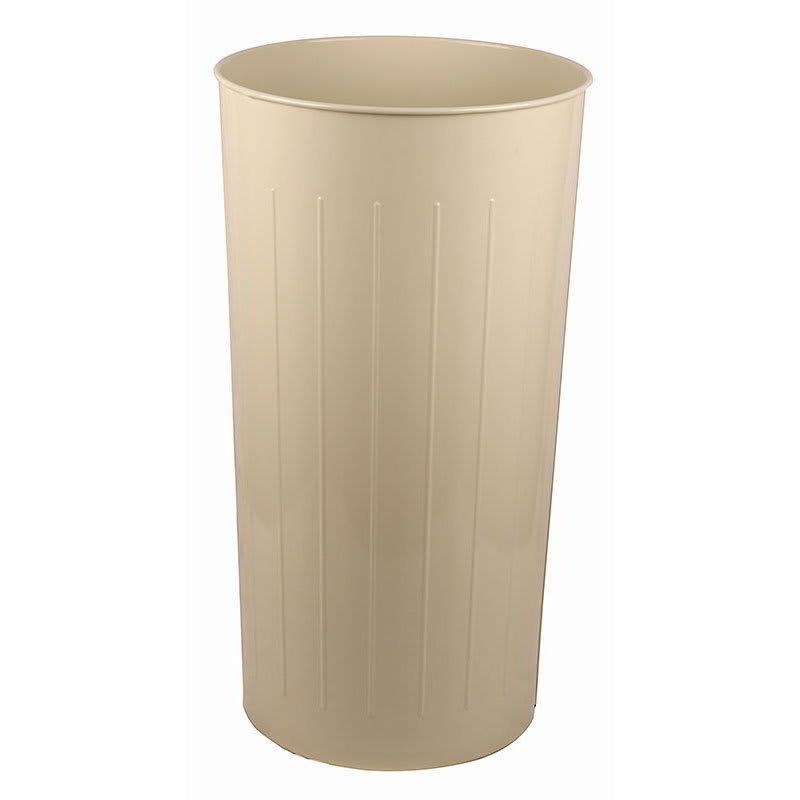 Witt 10AL 20 qt Round Waste Basket - Metal, Almond