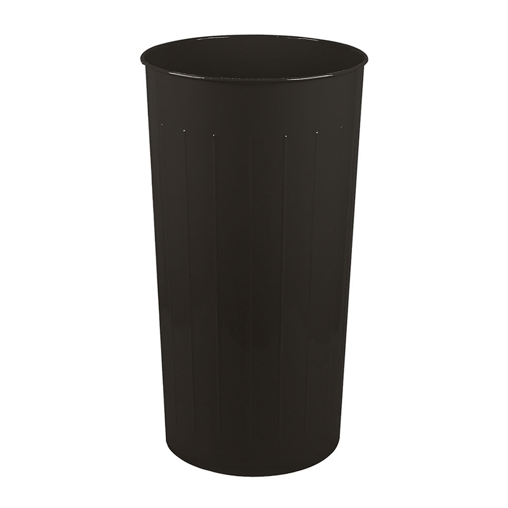 Witt 10BK 20 qt Round Waste Basket - Metal, Black
