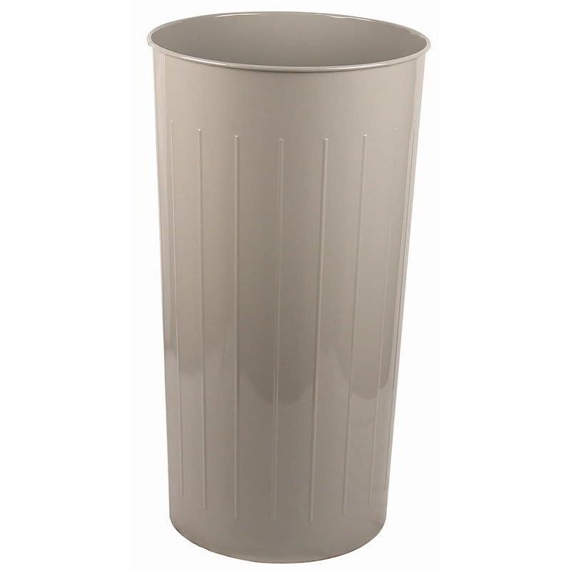 Witt 10SL 20 qt Round Waste Basket - Metal, Slate