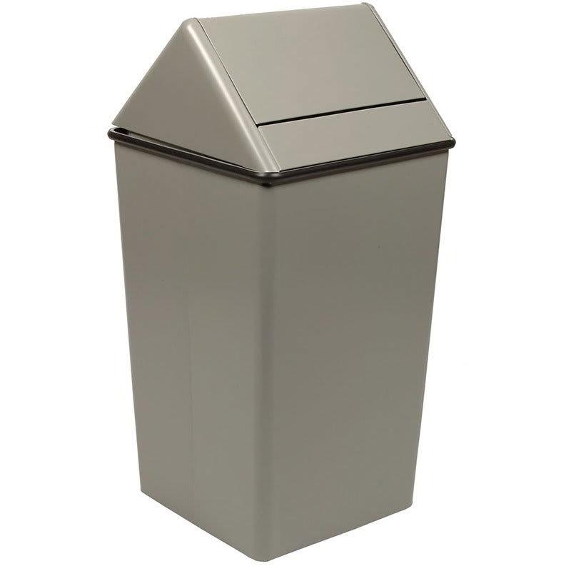 Witt 1311HTSL 13 gal Indoor Decorative Trash Can - Metal, Slate