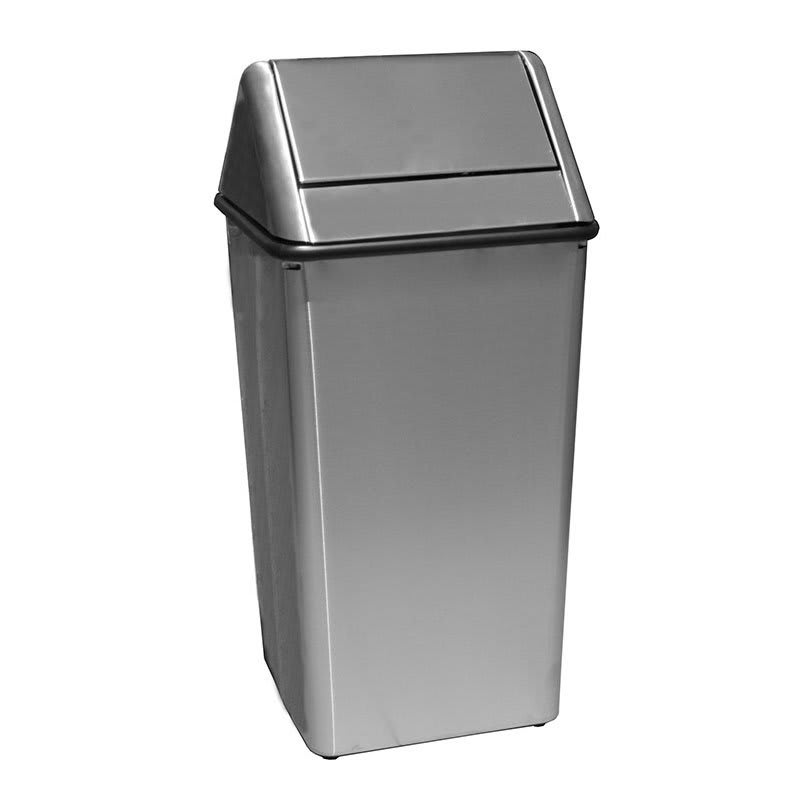 Witt 1311HTSS 13-gal Indoor Decorative Trash Can - Metal ...