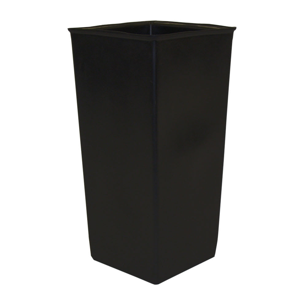 Witt 13R Indoor 13-gal Square Rigid Trash Can Liner, Plastic - Black
