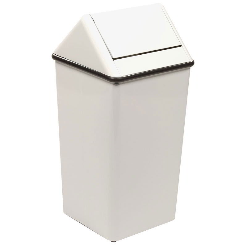 Witt 1511HTWH 36-gal Indoor Decorative Trash Can - Metal, White