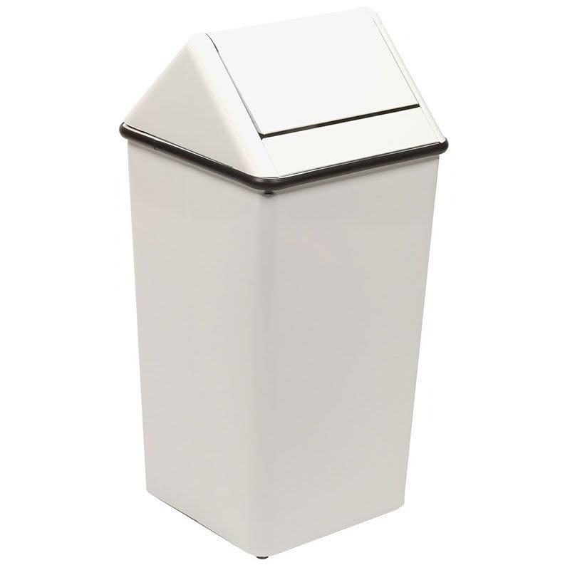 Witt 1511HTWH 36 gal Indoor Decorative Trash Can - Metal, White