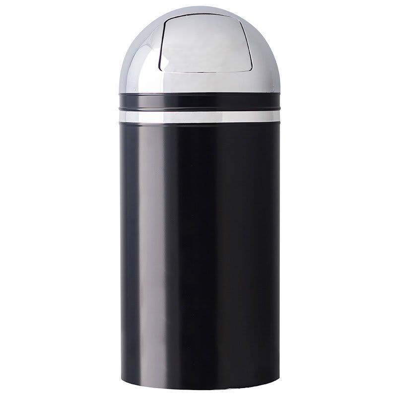 Witt 15DT-22 15-gal Indoor Decorative Trash Can - Metal, Black
