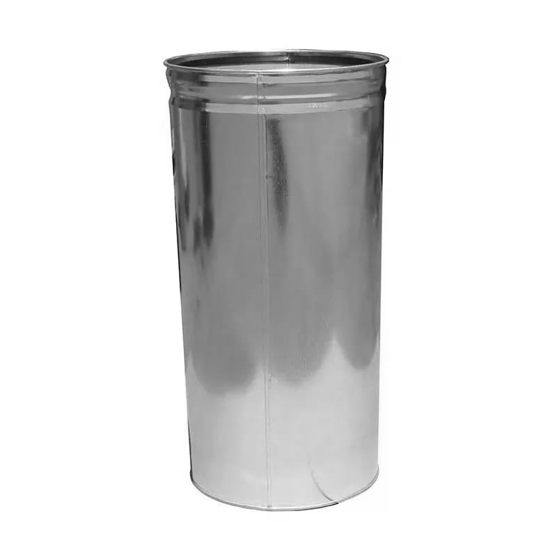 Witt 15DTL 15-gal Round Rigid Trash Can Liner, Metal - Galvanized Steel